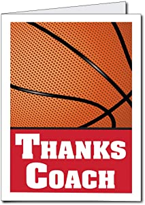 VictoryStore Jumbo Cards: Giant Thank You Coach Card 2 feet x 3 feet with Envelope (Basketball Coach)