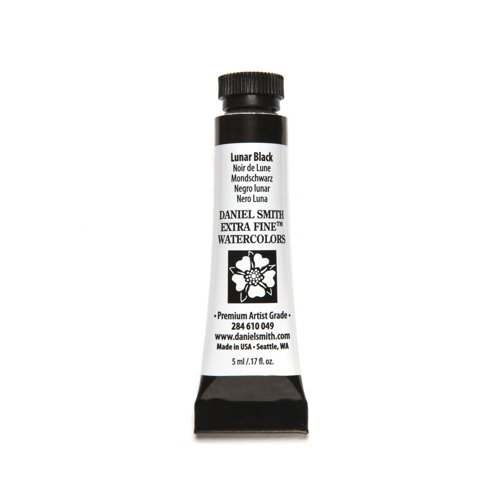 Daniel Smith 284610049 Extra Fine Watercolors Tube, 5ml, Lunar Black