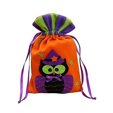 Kentop Bolsa de Regalo para Halloween Reutilizable Bolsa de Dulces con Cordón para para Niños