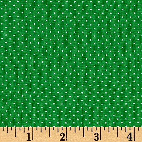 "Fabric & Fabric"" QT Fabrics Sorbet Essentials Mini Dot Green"
