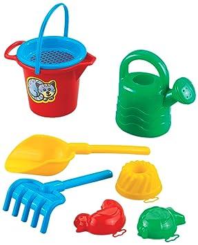 Spielzeug & Modellbau (Posten) 6 x Sandeimer Sandspielzeug-Set 7tlg Strandspielzeug Förmchen Gießkanne Schaufel Großhandel & Sonderposten