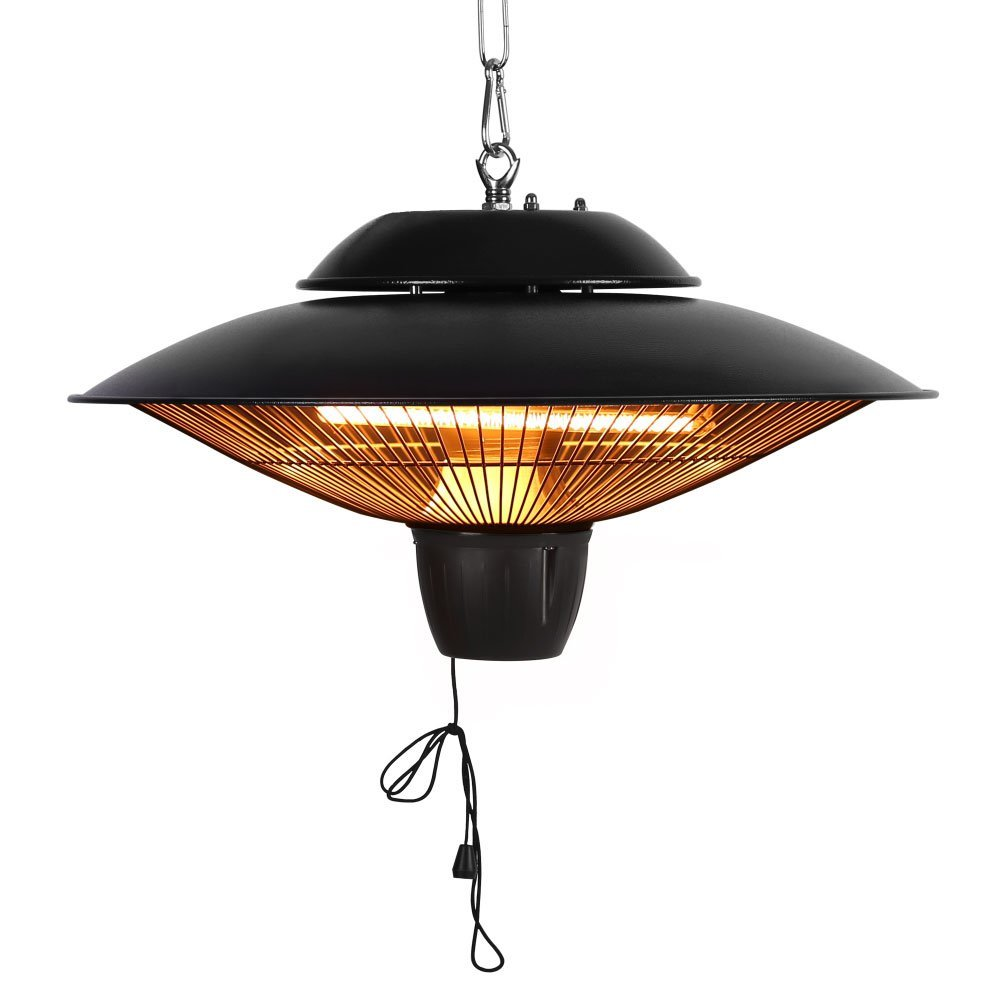 Star Patio Electric Patio Heater, Outdoor Ceiling Patio Heater, Black with Infrared Heating Element, Outdoor Patio Heater Suitable as a BBQ Party Heater, Balcony Heater, and Verandah Heater, 1524 by Star Patio
