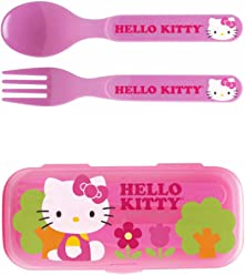 Zak! Hello Kitty Flatware Set for Kids Toddlers Girls (3 Pc: Spoon,