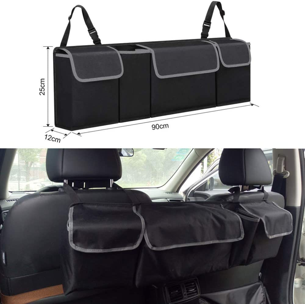 Hatchback Seat Back Storage to Keep Car Trunk Neat Bolaxin Trunk Organizer Car Storage Sedan Car Trunk Storage Organizer for SUV Minivan and Other Cars with Trunk