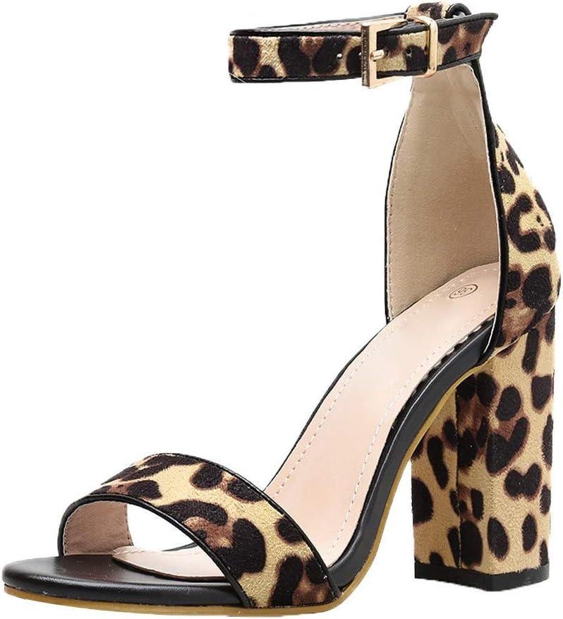 Emerayo Shoes Women 3.9 Inch Leopard