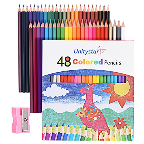 Colored Drawing Pencils with Sharpener,UnitySta...
