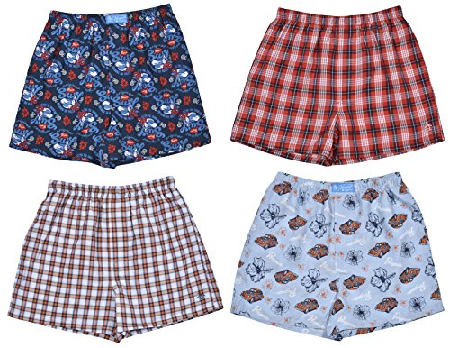 s' 4-Pack Woven Boxer Shorts,Surf,Large / 14-16 ()