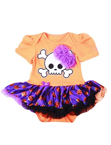 Poco Mano® Bebé Niña Vestido De Pelele de Halloween esqueleto traje divertido Bodies para: Amazon.es: Ropa y accesorios
