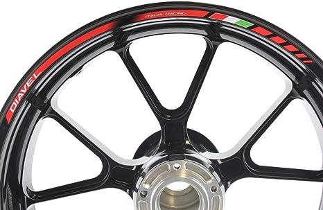 Liserets de Jantes SpecialGP Moto Ducati Diavel Rouge Autocollants