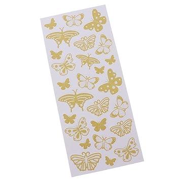 Blesiya Wandtattoo Wandsticker Set   Rosa/Gold Schmetterlinge Für Mädchen  Zimmer Zum Kleben Wandtattoo Wandaufkleber