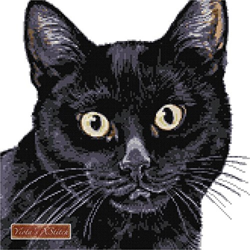 Black cat counted cross stitch kit (Black Cat Cross Stitch)