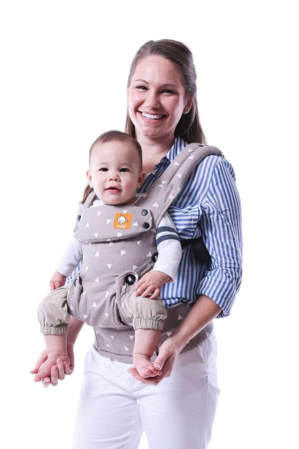 Baby Tula Explore Baby Carrier, Adjustable Newborn to Toddler Carrier, Ergonomic and Multiple Positions for 7 – 45 pounds – Discover, Black with Gray Stars
