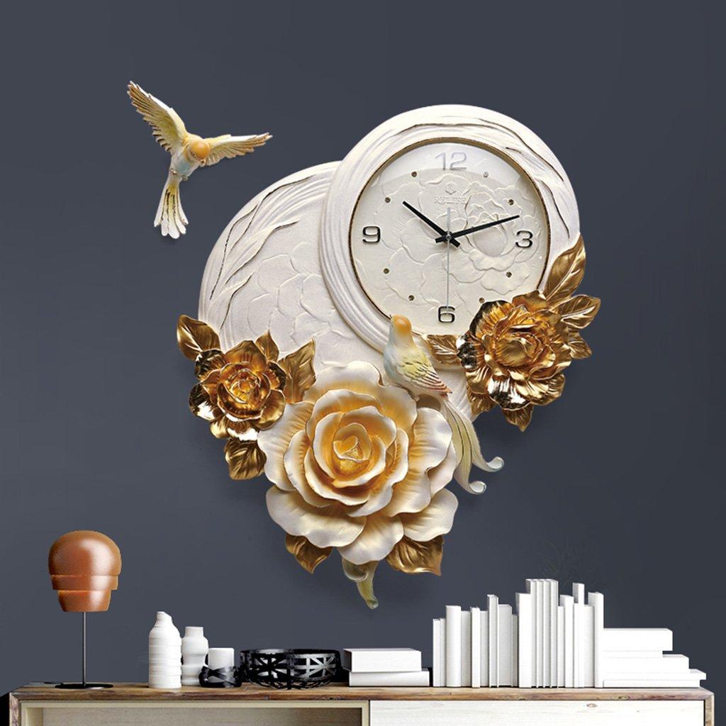 JCRNJSB® バードウォールクロック、リビングルームの時計3次元の創造性のベッドルームホームベルミュートパーソナリティ時計装飾的な時計57x42cm 壁掛けサスペンション クロックウォールクロック クォーツ時計 (色 : #2) B07CVSSC7L#2