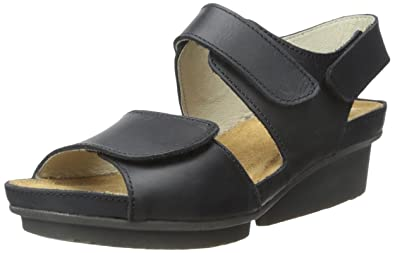 El Naturalista Women's ND20 Code Wedge Sandal, Black, 36 EU/5-5.5