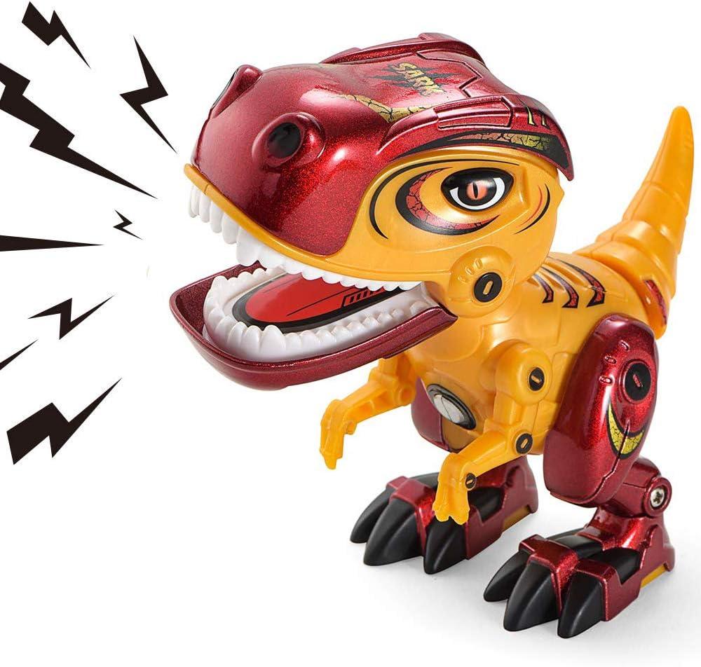 AOFUN Juguetes de Dinosaurios para niños, Aleación de Metal Dinosaurio de Juguete con Sonido rugiente para niños y niñas de 3 años o más: Amazon.es: Juguetes y juegos