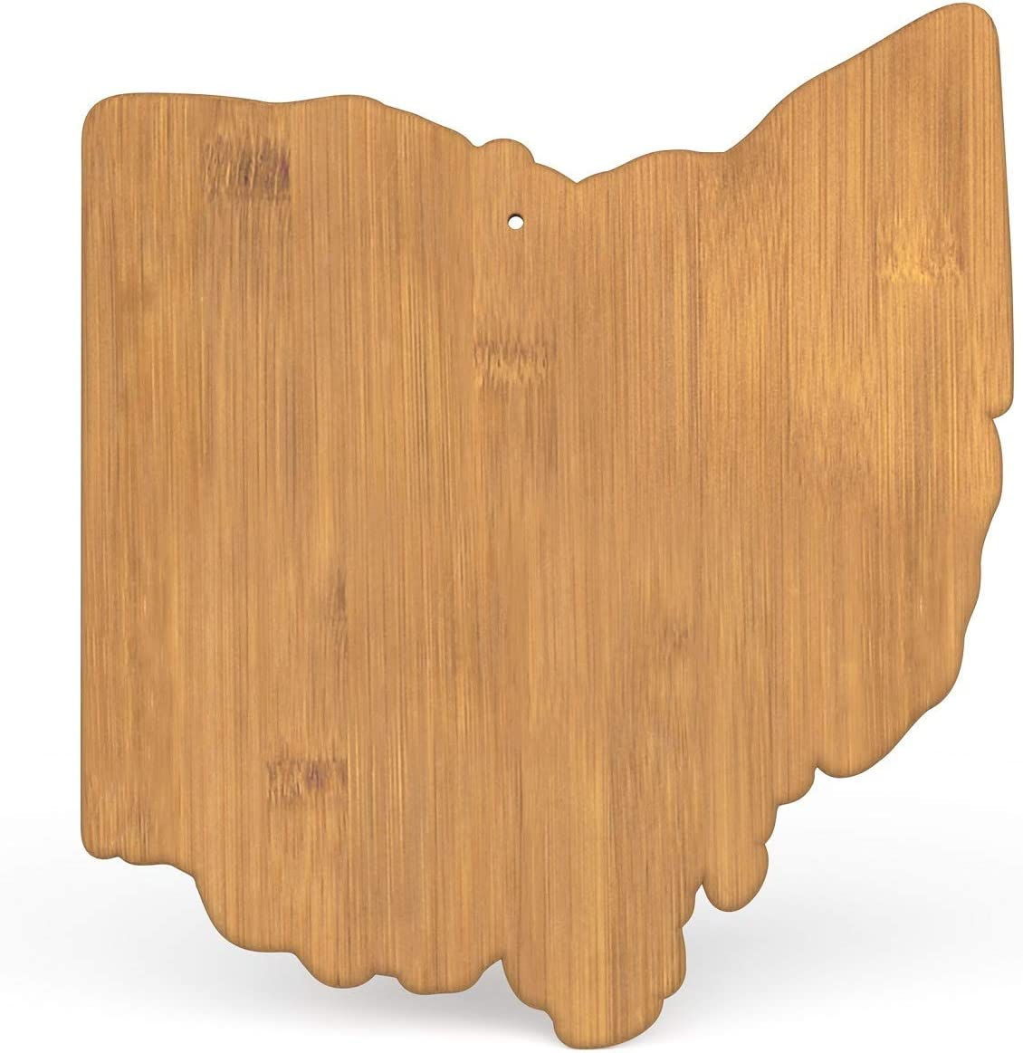 Ohio Bamboo Serving Board, Ohio State Shaped Cutting Board, Souvenirs from Ohio, Cincinnati Cheese board, Buckeye Serving Dish, Ohio Shaped Decor for Kitchen, Columbus Serving Plate