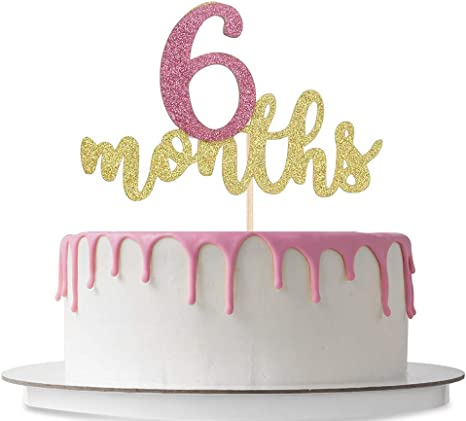 Pleasant Amazon Com 6 Months Cake Topper Happy 1 2 Birthday Sweet 6 Funny Birthday Cards Online Barepcheapnameinfo