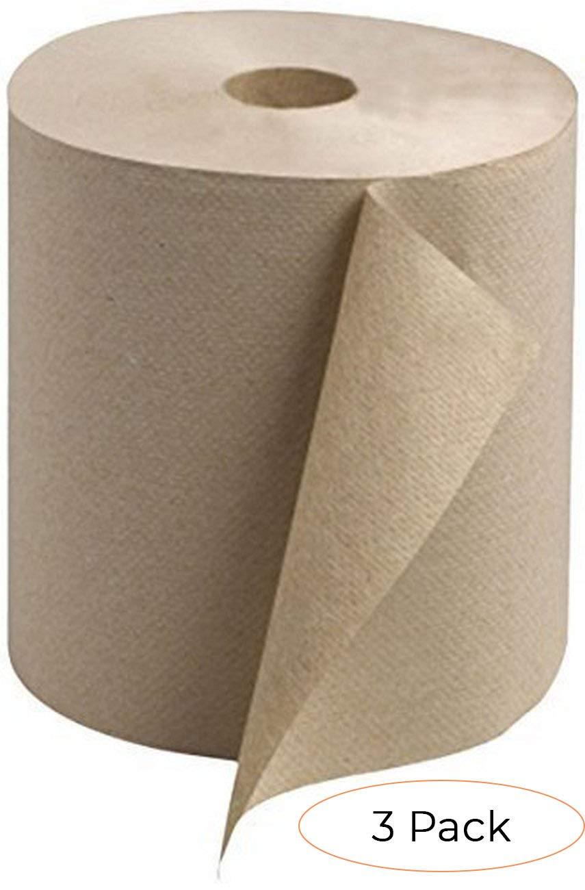 1-Ply Pack 2 Tork Universal RK800E Hardwound Paper Roll Towel Case of 6 Rolls, 800 per Roll, 4,800 Feet 7.87 Width x 800 Length Natural