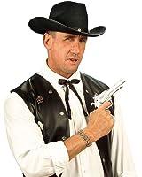 Cravate de Cowboy Western Nœud Papillon Noir Wild West Ruban Far West Tour de Cou Shérif Cravate Carnaval Déguisement Accessoires