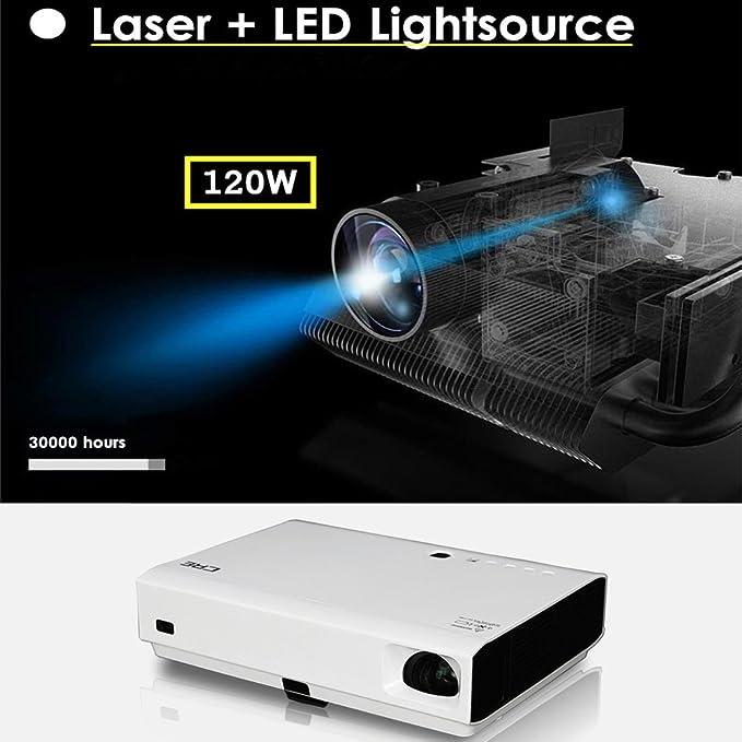 DLP Mini LED proyector láser 3d 1080p Full HD 4500 Lumens 20000: 1 ...