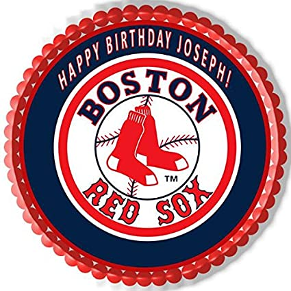 Image Unavailable Not Available For Color Boston Red Sox Edible Cake