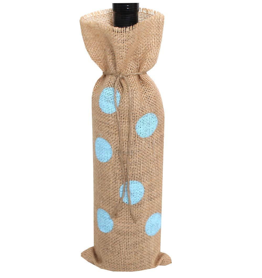 Saco para botella lunares azules set 10 unidades: Amazon.es: Handmade
