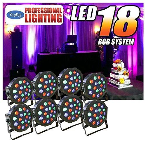 Missyee Uplight 18 Leds Up Lights,Uplighting for Wedding Sound Activated DMX 512 Controller Dj Stage Par Lights...