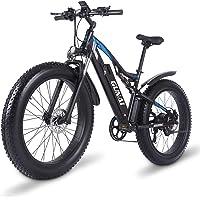 GUNAI Bicicleta de Montaña Eléctrica 1000w, Bicicleta de Nieve de 26 Pulgadas con Pantalla LCD y Freno Hidráulico de…