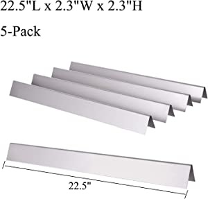 GasSaf 22.5 inch Flavorizer Bars Replacement for Weber 7536, Spirit 300 E310 E320 S310 S320, Spirit 700, Weber 900, Genesis Silver B C, Genesis Gold B C, Replace for Weber 7537, 65903 (5-Pack)