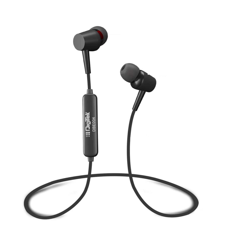Digitek DBE004 Wireless Bluetooth Immersive Sound Earphone with Calling Microphone (Black)