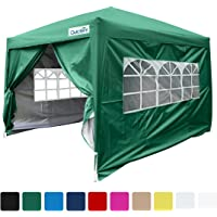 Quictent Silvox 8x8' EZ Pop Up Canopy Tent Instant Canopy With Carry bag 100% Waterproof-7 Colors