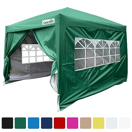 Quictent Silvox Waterproof 8x8u0027 EZ Pop Up Canopy Gazebo Party Tent Green Portable Style  sc 1 st  Amazon.com & Amazon.com : Quictent Silvox Waterproof 8x8u0027 EZ Pop Up Canopy ...