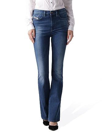 Diesel Skinzee-Flare 0826F Stretch Damen Jeans Hose Schlaghose  Amazon.de   Bekleidung dd510a1921
