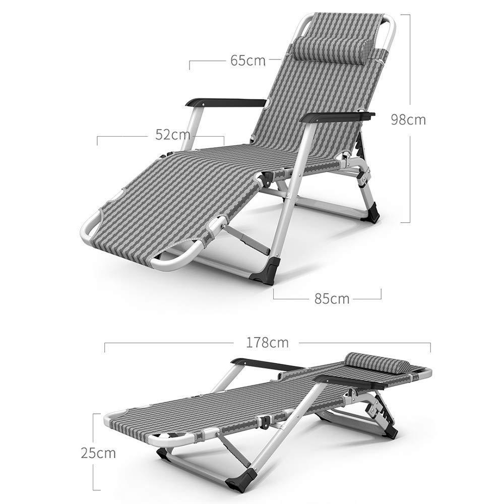 Solnedgång lounge stol fällbar lunchpall Single Home fritid vuxna cool stol säng bärbar lazy soffa stol trädgårdsdäck strand camping stol, last 200 kg (färg: A) en