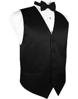 5253b5a15f0e Amazon.com: Spencer J's Men's Formal Tuxedo Suit Vest Tie Bowtie and ...