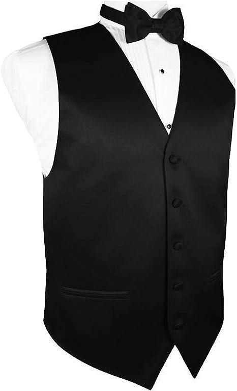 Amazon.com: Hombre vestido chaleco & Lazo Set sólida para ...