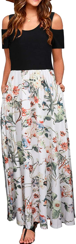CzzzyL Womens Cold Shoulder Maternity Nursing Dress for Breastfeeding with Pockets