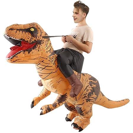 Dkings Disfraz de Dinosaurio Inflable, Disfraz de Halloween para ...