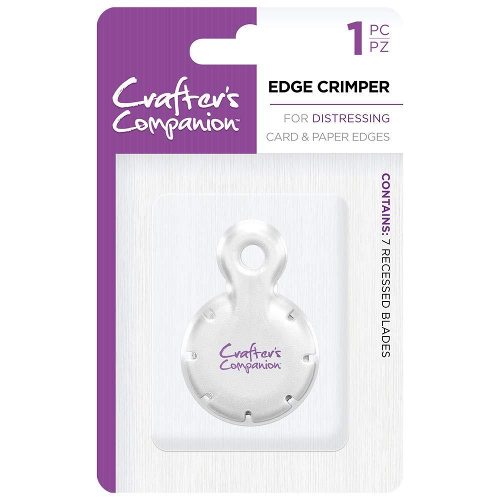 White Crafters Companion Strumento Crimper Bordo per la Carta e Progetti di Carte di Crafting Taglia unica
