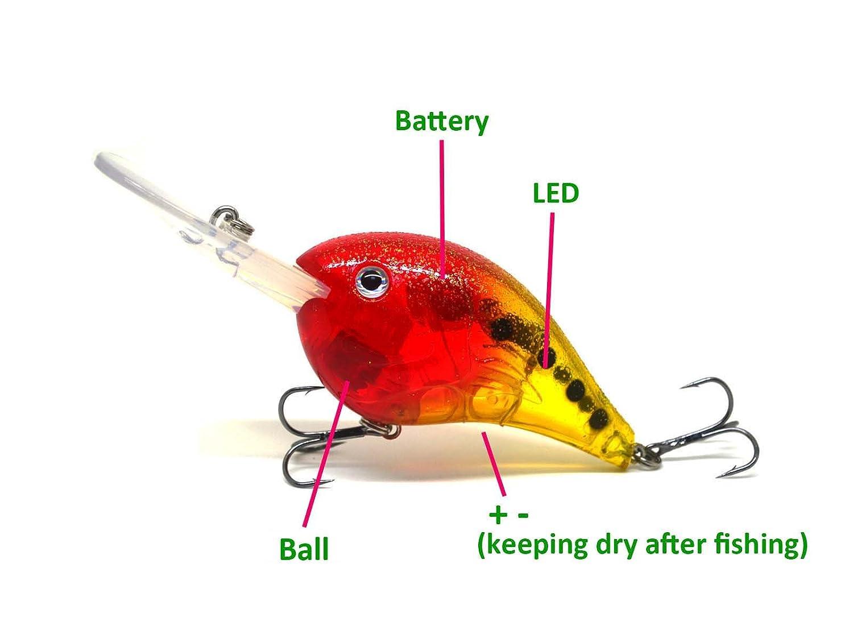 Amazon.com : FLASHING LED Flash LIGHT Fishing Lure BAIT Deepwater ...