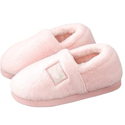 44c6d685 ZAPATILLAS de Punta Cerrada para Mujeres Lindas Otoño Invierno Calientes  Zapatos cómodos casa Interiores con Dormitorio