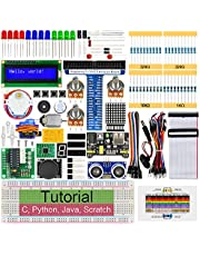 Freenove Ultrasonic Starter Kit for Raspberry Pi 4 B 3 B+ 400, 487-Page Detailed Tutorials, Python C Java Scratch Code, 171 Items, 63 Projects, Solderless Breadboard
