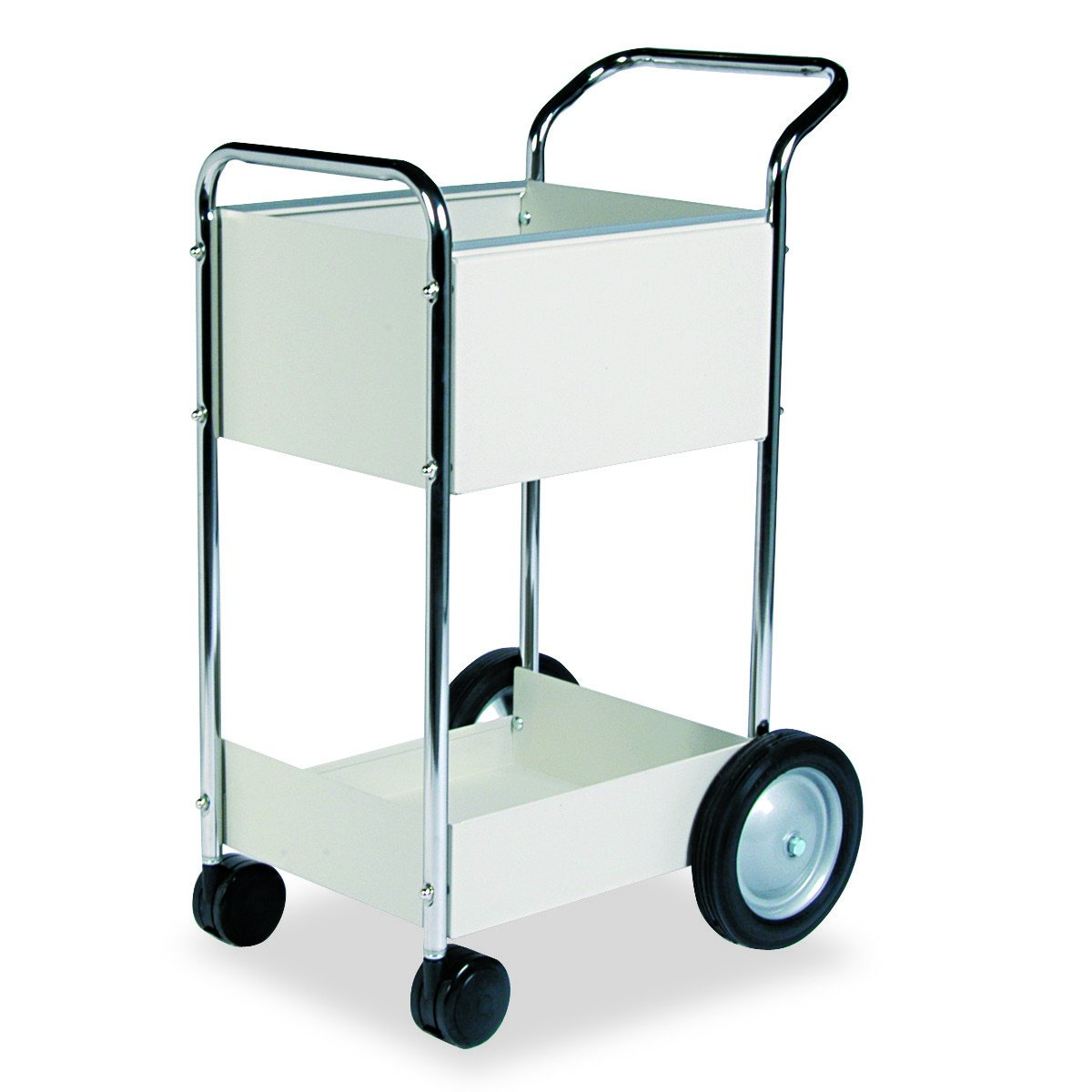 Fellowes 40924 Steel Mail Cart, 75-Folder Capacity, 20w x 25-1/2d x 39h, Dove Gray by Fellowes