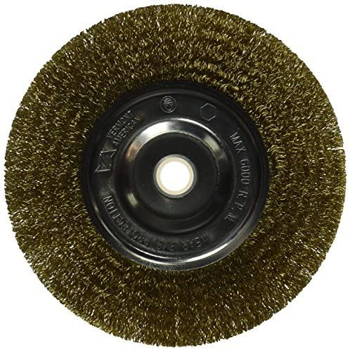 Coarse Vermont American 16801 6 Brass Wire Wheel with 5//8 or 1//2 Arbor