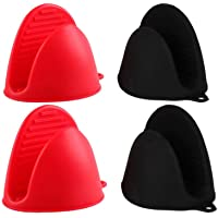 AORTDES Silicone Cooking Pinch Grips Oven Mitts - Finger Protector Pot Holder for Kitchen,Cooking,Baking,BBQ - Heat…