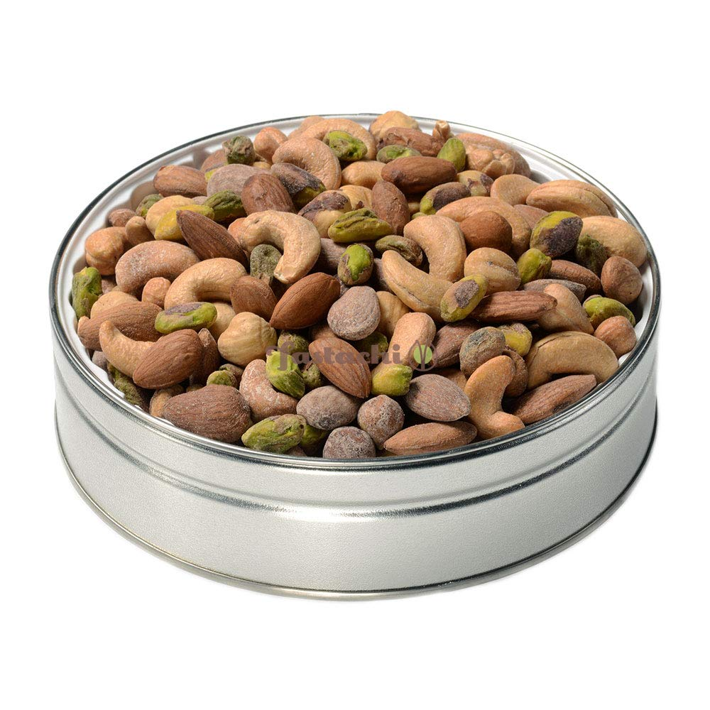 Fastachi Super Nut Mix Gift Tin (1LB) - Great for Gifting, Holiday Corporate Gifts