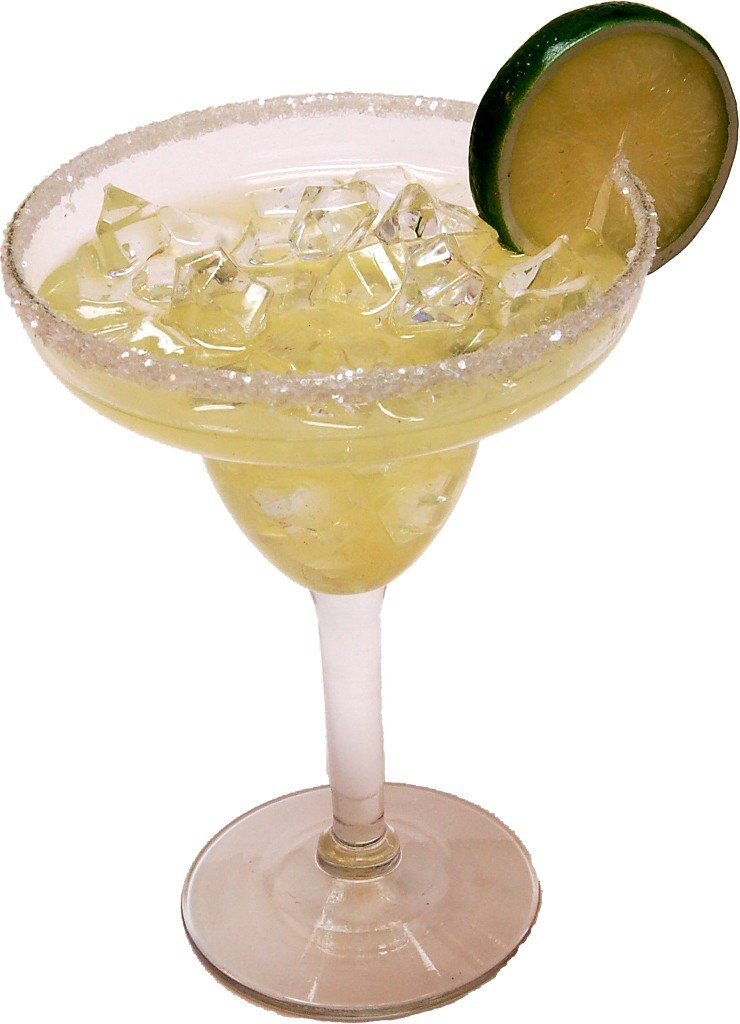 MARGARITA WITH ICE GLASS Fake Drink Flora-cal Products