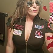 Amazon.com: Leg Avenue Women's Top Gun Flight Suit Costume