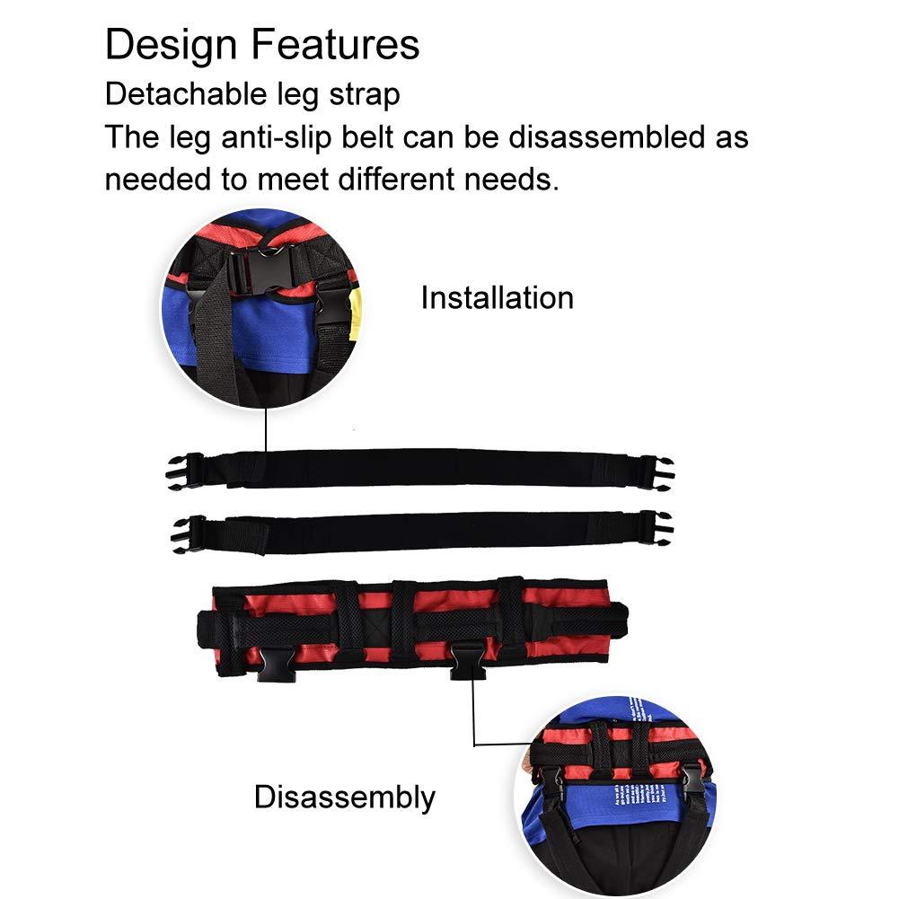 Training belt for rehabilitation, Transfer belt with belt loop, Auxiliary rehabilitation belt, Walking rehabilitation belt for leg rehabilitation(L) by TMISHION (Image #1)
