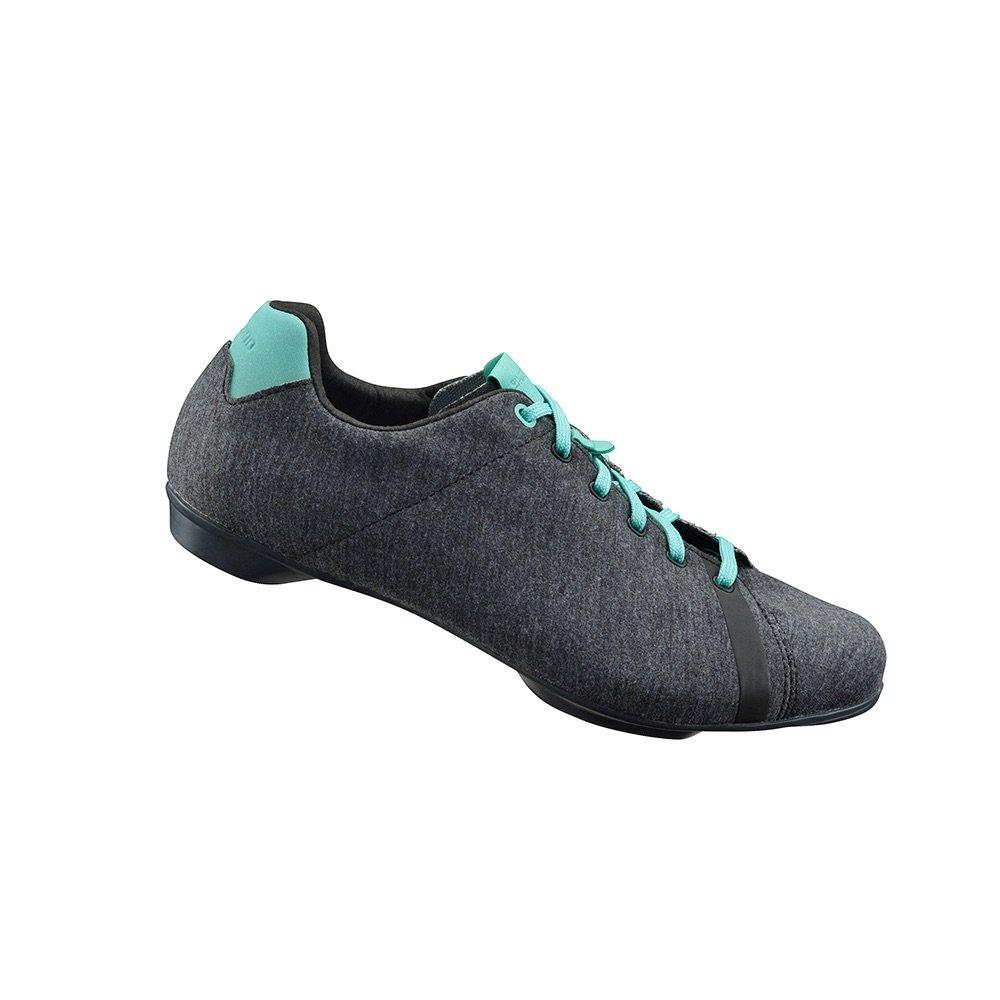 Shimano 2017/18 Women's Versatile Road Cycling Shoes - SH-RT4W - GRAY MELANGE/MINT (GRAY MELANGE/MINT - 39.0)
